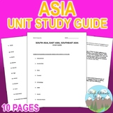 South Asia, East Asia, Southeast Asia Unit Study Guide (Geography)