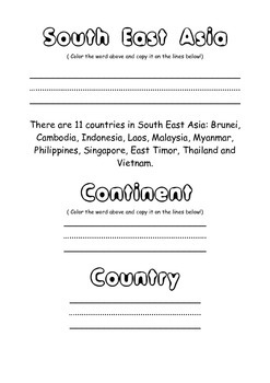 Geography - South East Asia