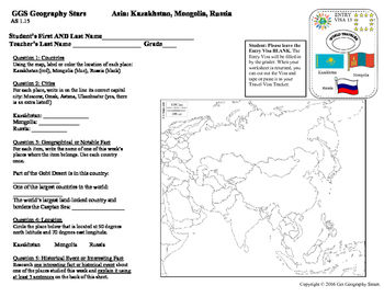 Geography Stars - Learn about Asia!