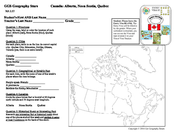 Geography Stars - Learn about Canada and its Provinces!