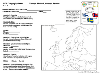 Geography Stars - Learn about Europe!
