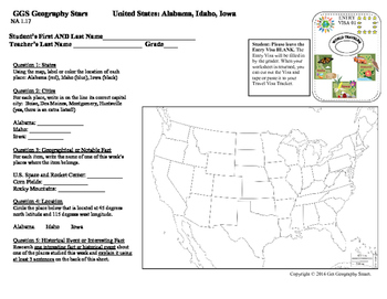 Geography Stars - Learn about North America!