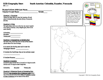 Geography Stars - Learn about South America!