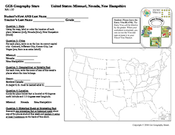 Geography Stars - Learn about the United States!