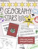 Geography Stars Weekly Year-Long Program & Passport Bookle