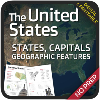 Geography States Capitals And Landforms Of The United States - Landforms of the united states