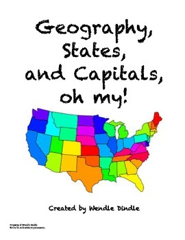 Geography, States, and Capitals, Oh My!