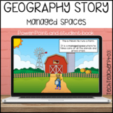 Geography Story Managed Spaces vocabulary building