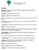 Geography Study Guide - VA SOL 3.6 (new)