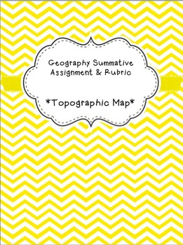 Geography Summative Assignment - Topographical Map