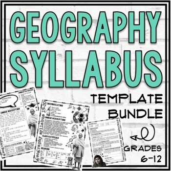 Geography Syllabus Template Bundle