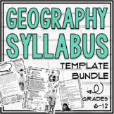 Geography Syllabus Template Bundle