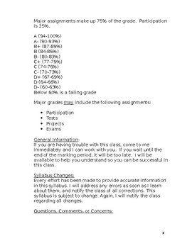 Geography Syllabus in WORD (high school)