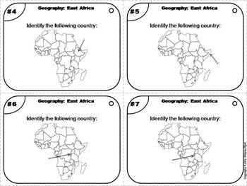 World Geography Task Cards: East Africa Task Cards (Map Skills Unit)