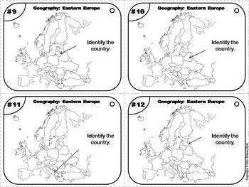 European Geography Task Cards: Eastern Europe Task Cards (Map Skills Unit)