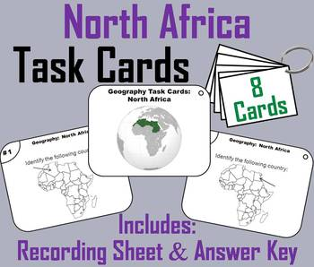 Geography Task Cards: North Africa Task Cards (Map Skills Unit)