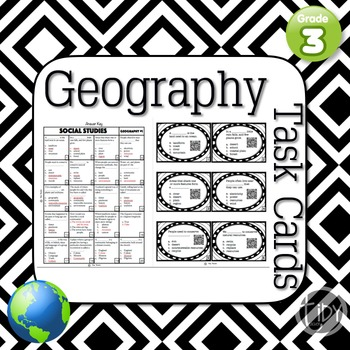 Geography Scoot/ Task Cards {QR code}