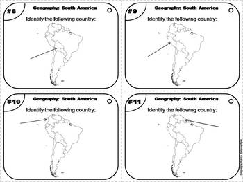 Geography Task Cards: South America Task Cards (Map Skills Unit)