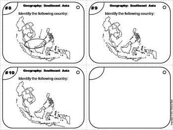 World Geography Task Cards: Southeast Asia Task Cards (Map Skills Unit)