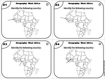 World Geography Task Cards: West Africa Task Cards (Map Skills Unit)