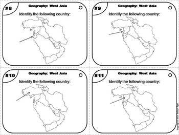 Geography Task Cards: West Asia Task Cards (Map Skills Unit)