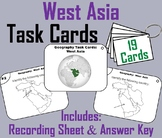 West Asia Geography Task Cards Activity (Map Skills Unit)