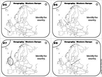 European Geography Task Cards: Western Europe Task Cards (Map Skills Unit)