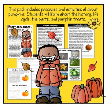 Pumpkins Everywhere! - A Non-fiction Activity Pack - Fall Activities