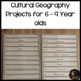 Cultural Geography Research Projects for 6 - 9 year olds