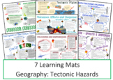 Geography: Tectonic Hazards Learning Mats Information Sheets