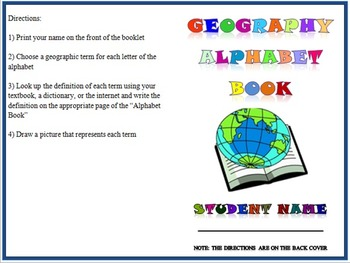Geography Term Activities