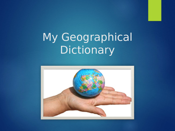 Geography Terms Dictionary
