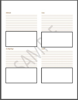 Geography Terms Printable Student Journal