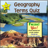 Geography Terms Quiz
