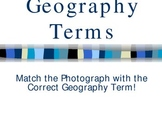 Geography Terms Vocabulary Matching Game Power Point (PPT)