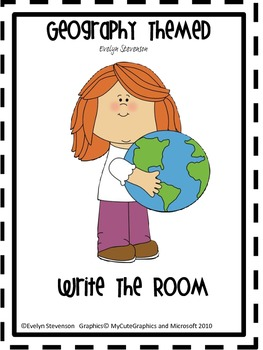 Geography Themed Write the Room