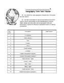 Geography Time Test Tracker