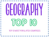 Geography Top 10 Most Populous Countries