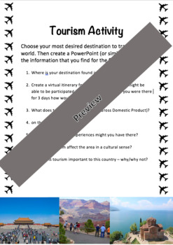 Geography Tourism Task
