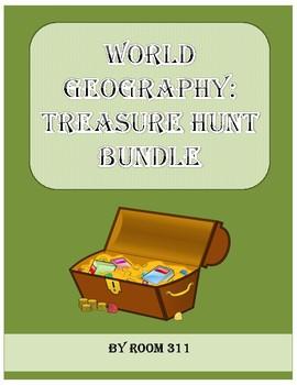 Geography Treasure Hunt Bundle