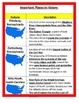 Geography:  U.S. Features and Important Places BUNDLE.  5th Grade SS