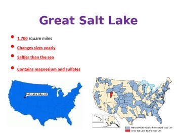 Geography:  U.S. Features and Important Places POWERPOINT 5th