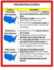 Geography: U.S. Features and Important Places STUDY GUIDE - 5th