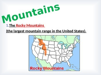 Geography:  U.S. Landforms BUNDLE- 3rd Grade