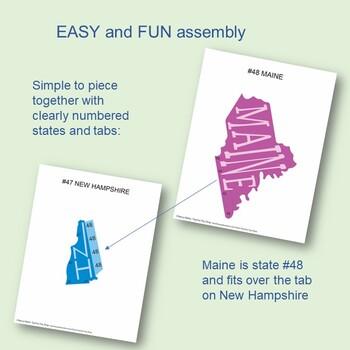 Geography USA MINI Make a Map Activity