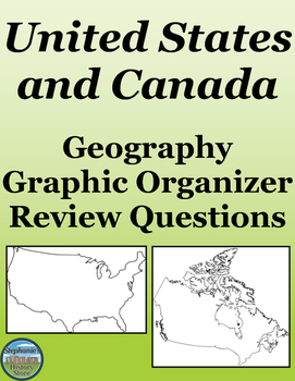 Geography USA and Canada Review by Stephanie\'s History Store | TpT