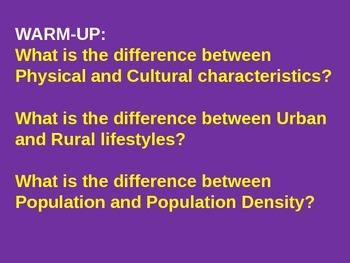 Geography - USA regions/Canada basics powerpoint
