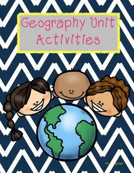 Geography Unit Activities - maps, compass rose, labeling
