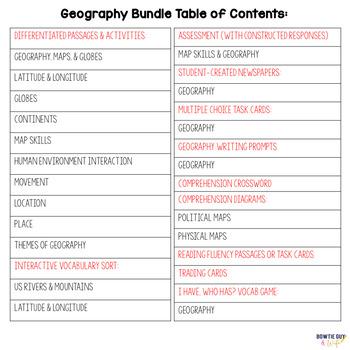 Geography Unit Bundle of Nonfiction Texts, Assessments, Activities
