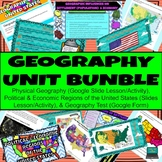 Geography of the United States (U.S.) Unit Digital (Google App) BUNDLE